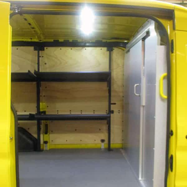 Fahrzeugeinrichtungen für Paketdienste